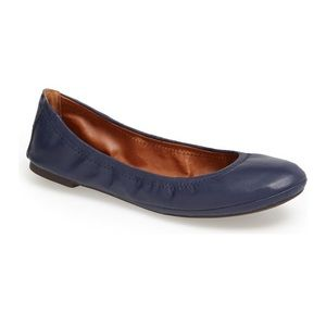 Lucky Brand Emmie Blue Leather Ballet Flat 9.5